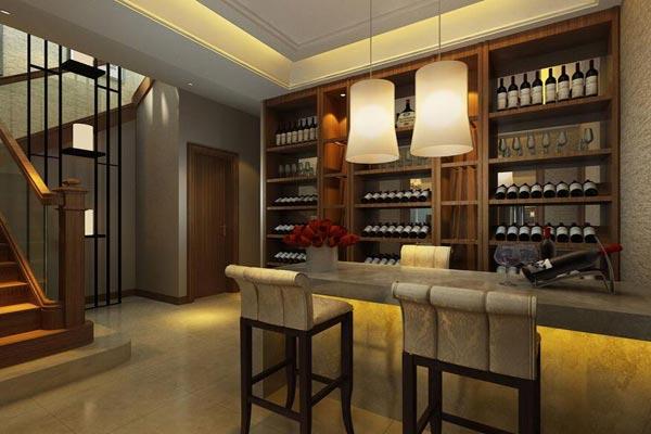 中式酒柜设计 中式酒柜装修效果图
