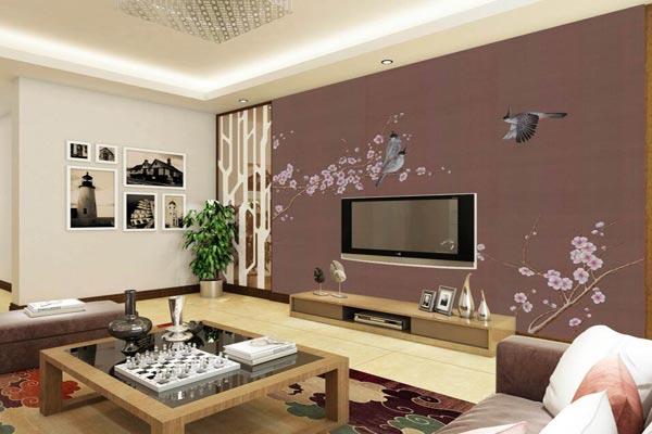 手绘电视背景墙设计效果图大全
