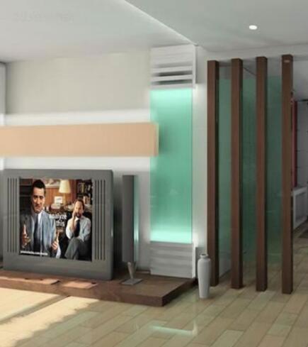 玻璃电视墙效果图4