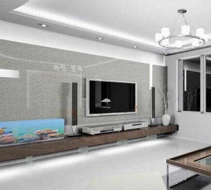 玻璃电视墙效果图7